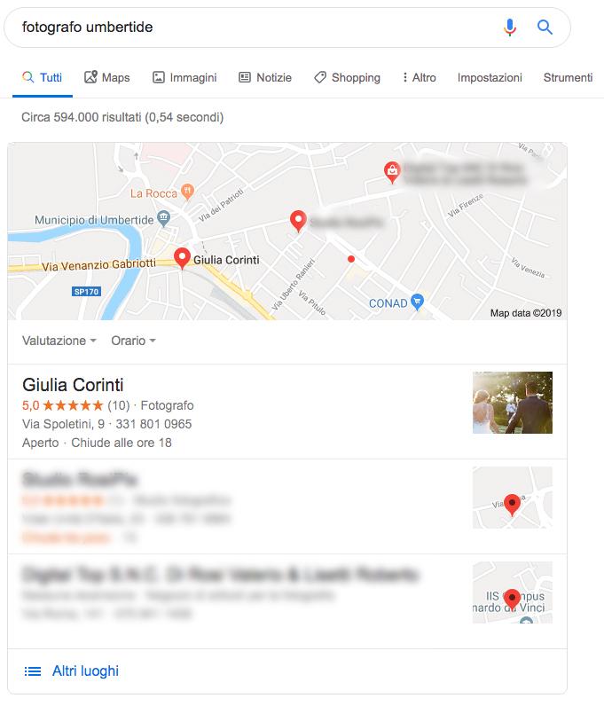 Immagine risultato Google business