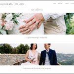 Il sito web di una fotografa freelance