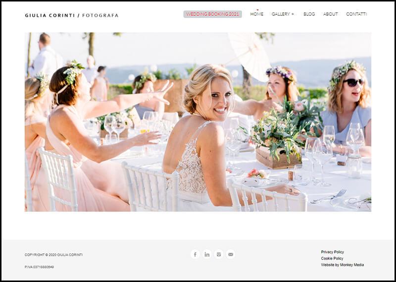 Portfolio Giulia Corinti Homepage