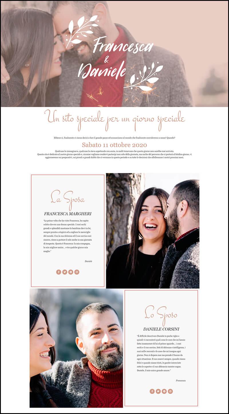 design sito web elegante