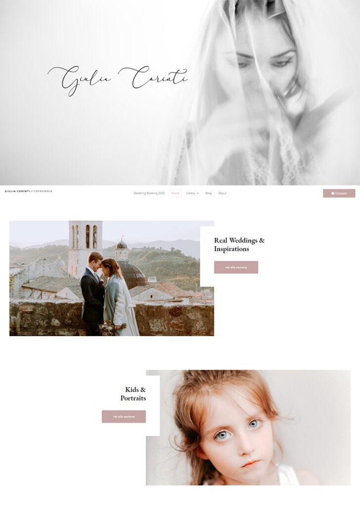 Sito web per fotografa