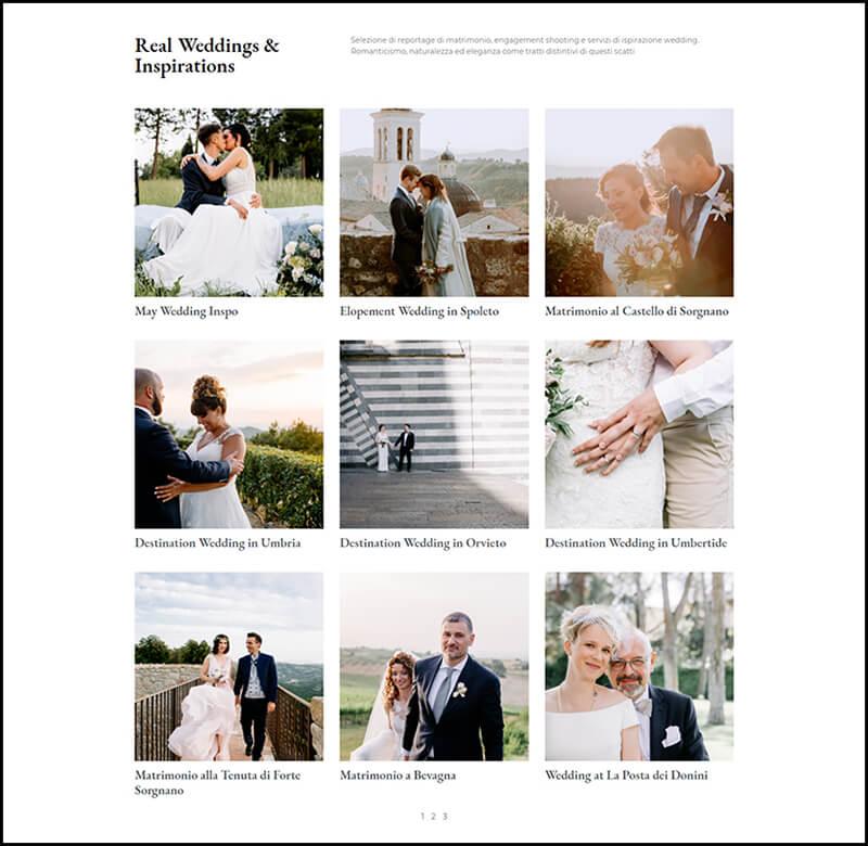 Sito web fotografa